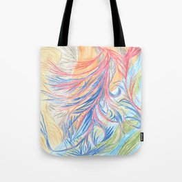 Tropical rainbotic sea Tote Bag