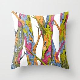 Naked Trees Throw Pillow