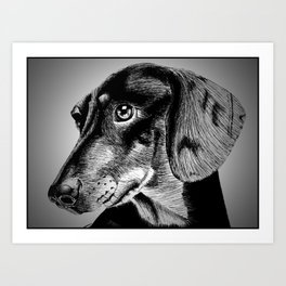 oh my dog ! Art Print