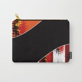 Bright colorful abstract pattern in red and black colours . Patchwork . Carry-All Pouch