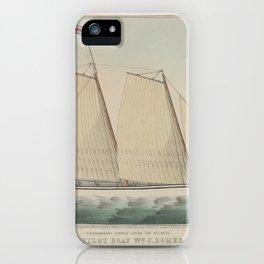 Extraordinary Express Across the Atlantic – Pilot Boat William J. Romer, Captain McGuire, Leaving fo iPhone Case