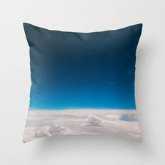 Blue and White at the sky Throw Pillow