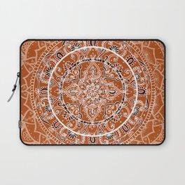 Detailed Burnt Orange Mandala Laptop Sleeve