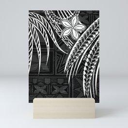 Vintage Samoan Tapa print Mini Art Print