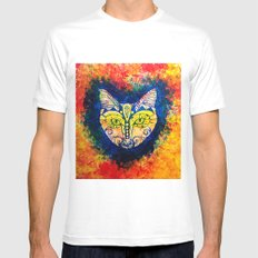 MEOW Mens Fitted Tee White MEDIUM