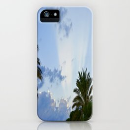 Palms on Clouds  iPhone Case