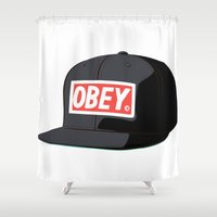 obey Shower Curtains featuring Obey IT by Serj Delja