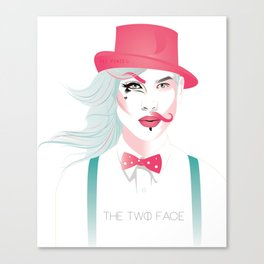 The Two Face Canvas Print