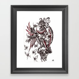 Butterfly's diet Framed Art Print