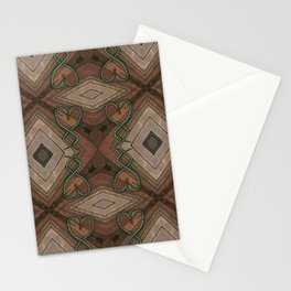 WOVEN SNAKE HEARTS III Stationery Cards