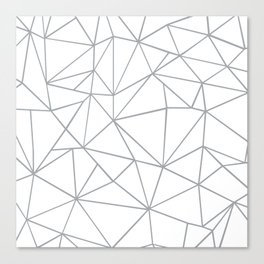 Ab Outline 2 Grey on White Canvas Print