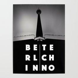 Berlin Techno - TV tower Poster