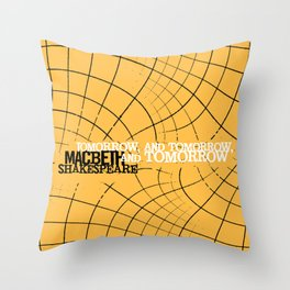 Macbeth 'Tomorrow and Tomorrow' - Shakespeare Quote Art - typography print Throw Pillow