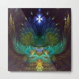 Love Birds - Fractal Manipulation Metal Print