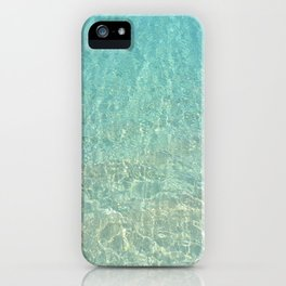 Colors of the Sea Water - Clear Turquoise iPhone Case