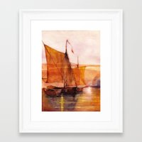 sail Framed Art Prints featuring Sail by Iris V.