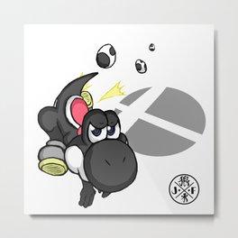 3....2....1...GO! : Yoshi(black) Metal Print