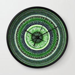Living Forest Mandala Wall Clock