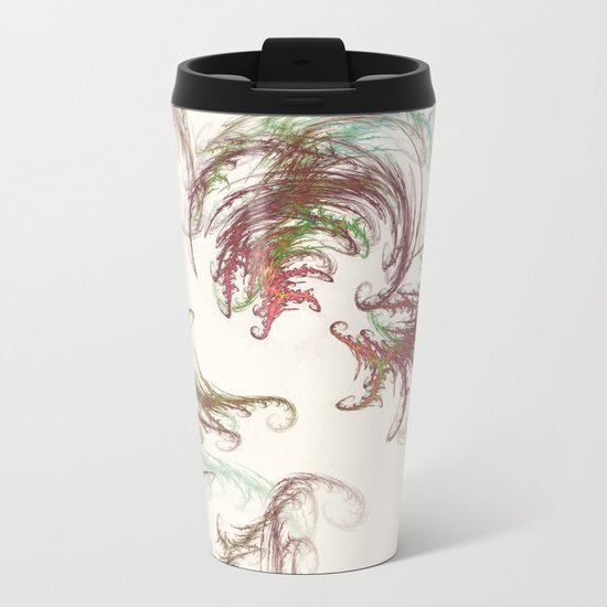 Harvest Winds Fractal Metal Travel Mug