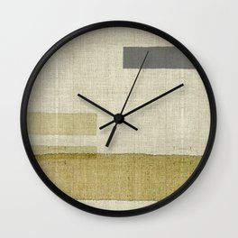 """Burlap Texture Natural Shades"" Wall Clock"