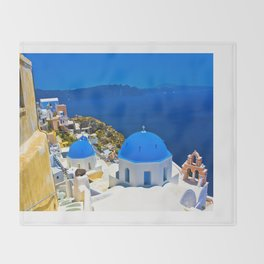 Santorini Throw Blanket