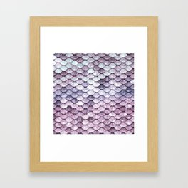 Mermaid Tail Lavender Framed Art Print