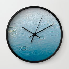 water-lightblue Wall Clock