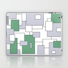 Squares - gray, green and white. Laptop & iPad Skin