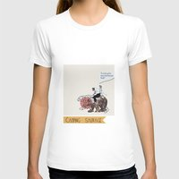 camping T-shirts featuring Camping Sauvage by Au cabaretdesoiseaux