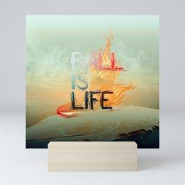 ball is life basketball design Mini Art Print