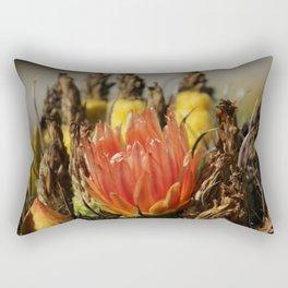 Barrel Cactus in Bloom Rectangular Pillow