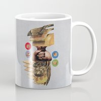 burger Mugs featuring Burger by Lerson