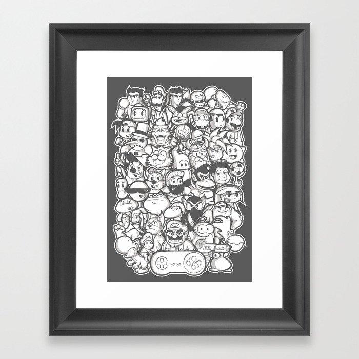 Super 16 bit  Framed Art Print