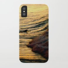 Sunset Wave iPhone X Slim Case
