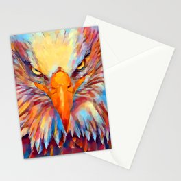 Bald Eagle Watercolor Stationery Cards