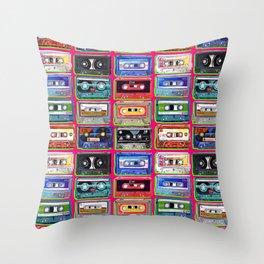 Acrylic Mix - pink Throw Pillow