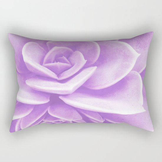 Purple Succulent Reflection Rectangular Pillow