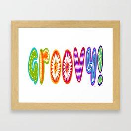 Groovy! Font Framed Art Print
