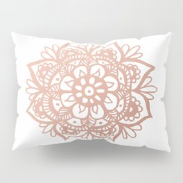 Rose Gold Mandala Pillow Sham