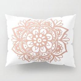 Rose Gold Mandala Pillow Sham