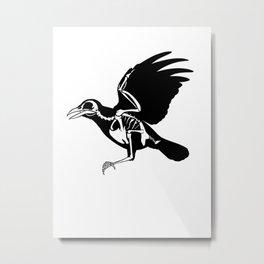 Bird Skeleton Metal Print