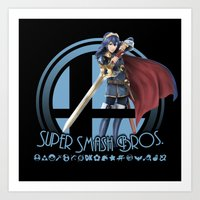 smash bros Art Prints featuring Lucina - Super Smash Bros. by Donkey Inferno