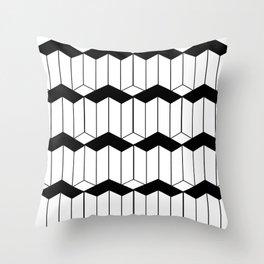 L shaped 3d block art Throw Pillow