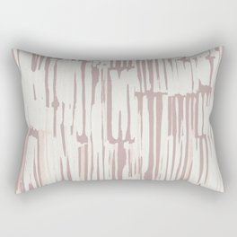Simply Bamboo Brushstroke Lunar Gray on Clay Pink Rectangular Pillow