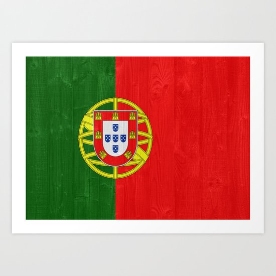 Portugal flag Art Print