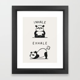 Inhale Exhale Panda Framed Art Print