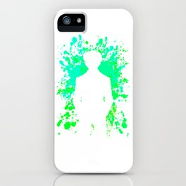 Anime Paint Splatter Inspired Shirt iPhone Case
