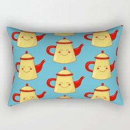 Tea pot smile Rectangular Pillow