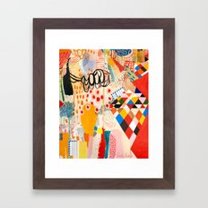 Wallpaper and Diamonds Part II Framed Art Print