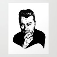 sam smith Art Prints featuring Sam Smith by Giorgia Ruggeri